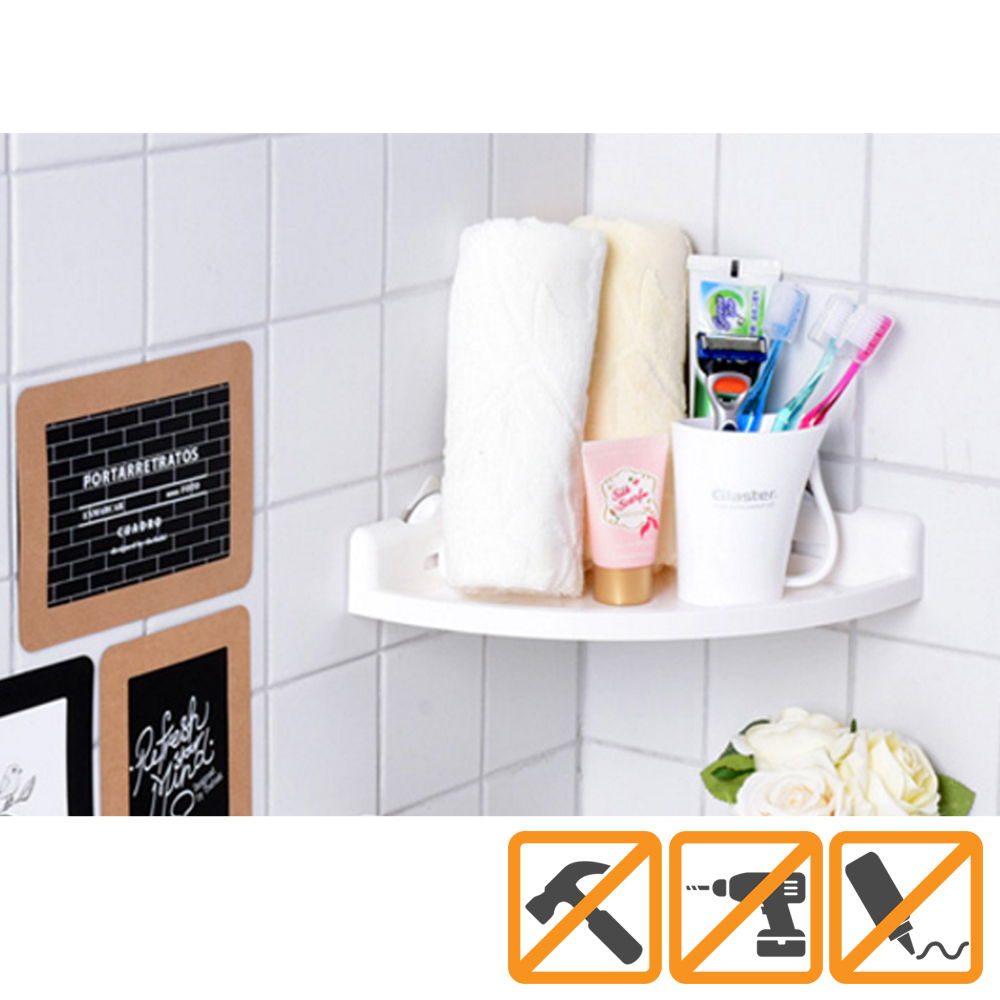 AccessoryGeeks.com | Glaster Shower Caddy Corner Shelf Mount [White ...