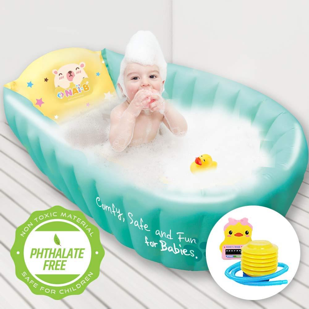 NAI-B Inflatable Baby Bath Tub. Portable and Foldable Bathtub for ...