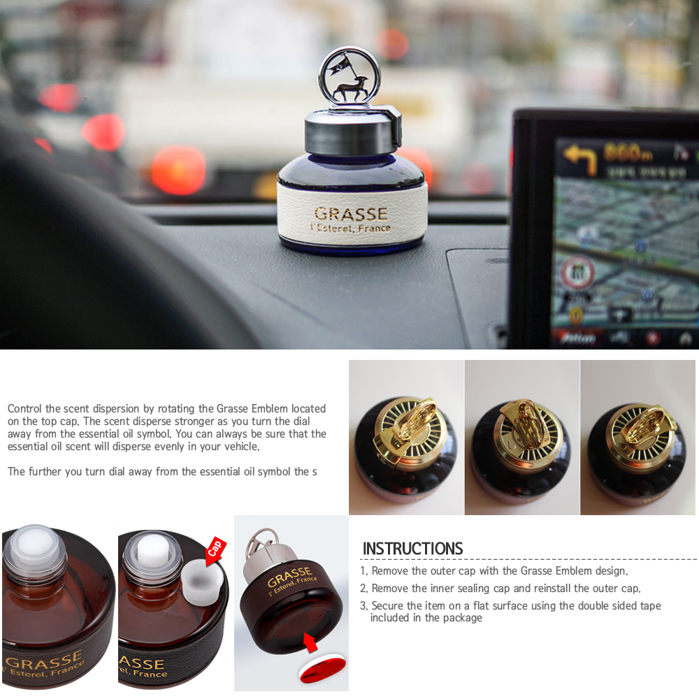 Premium car air freshener bulgarian rose bullsone grasse l esterel natural essential french oil scents