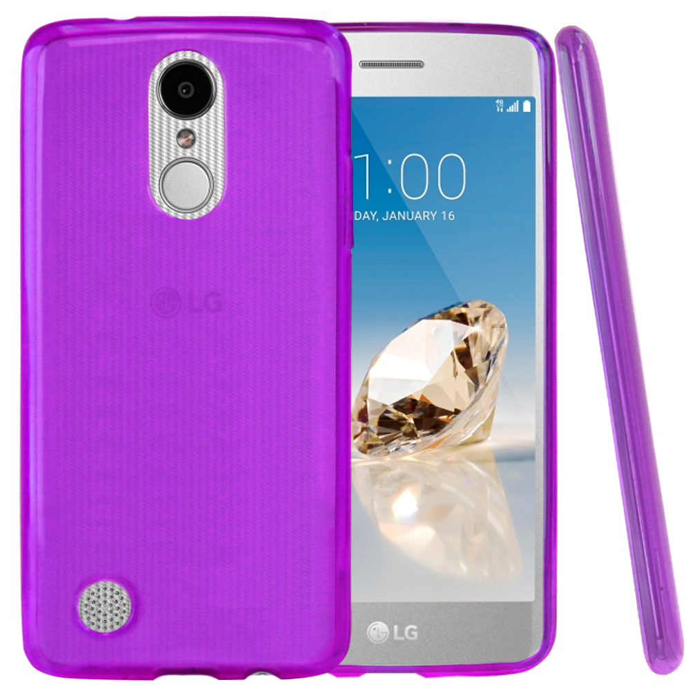 Lg Aristo Case Redshield Slim Flexible Anti Shock Crystal Silicone Tpu Skin Protective Cover Purple